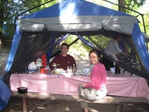 Our cozy kitchen tent