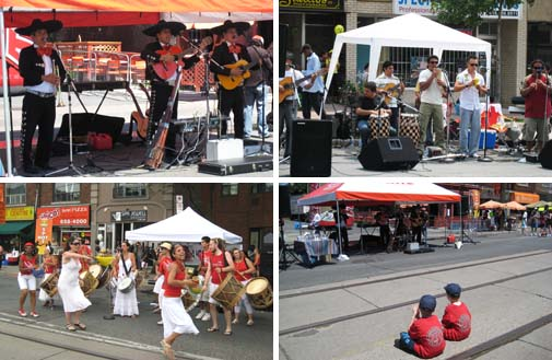 music, dance & kids at Salsa Street Festival (2008年拍的)