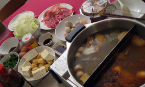 火锅情人节大餐 Hotpot dinner on Valentine's Day